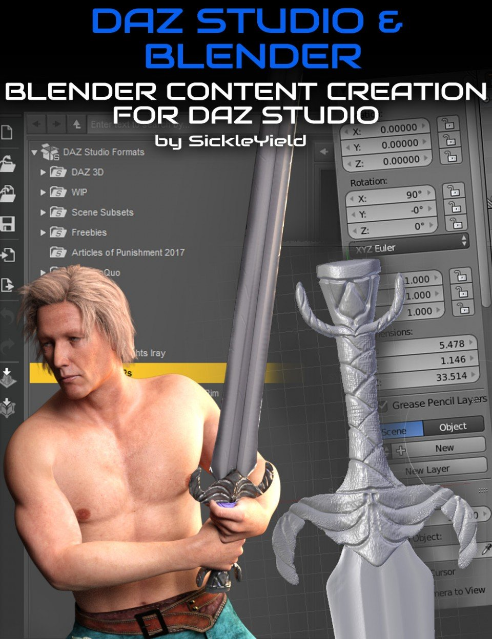 Daz Studio Content Creation with Blender_DAZ3D下载站