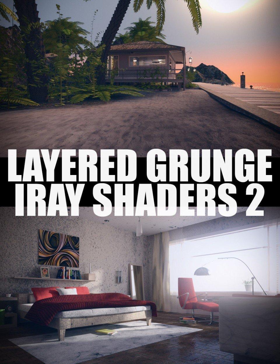 Layered Grunge Iray Shaders 2_DAZ3D下载站