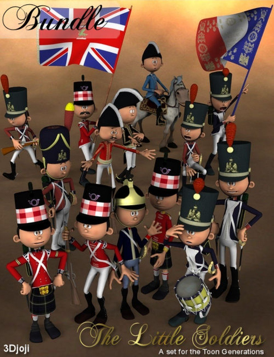 Little Soldiers Bundle_DAZ3D下载站