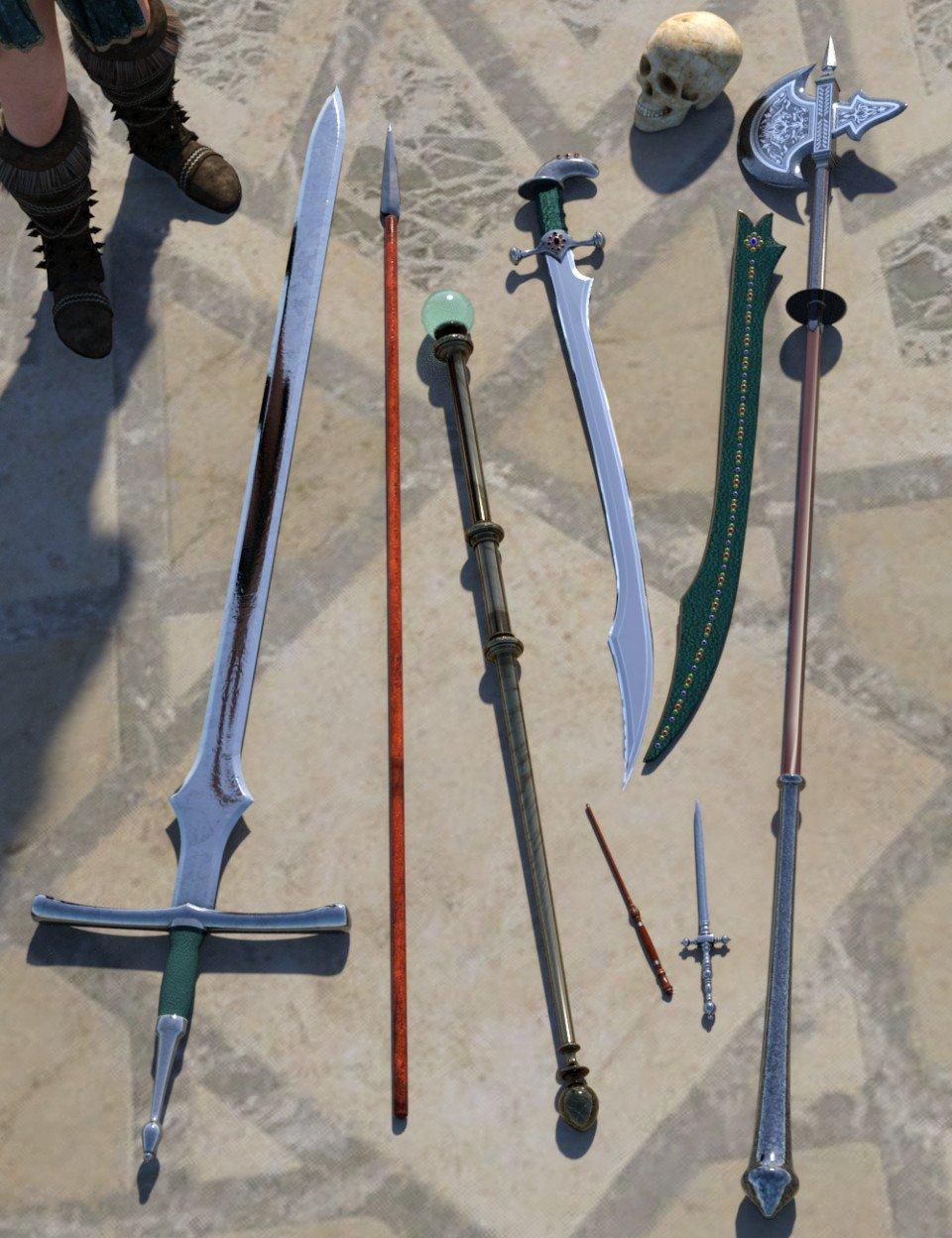 Mage Weapons_DAZ3D下载站