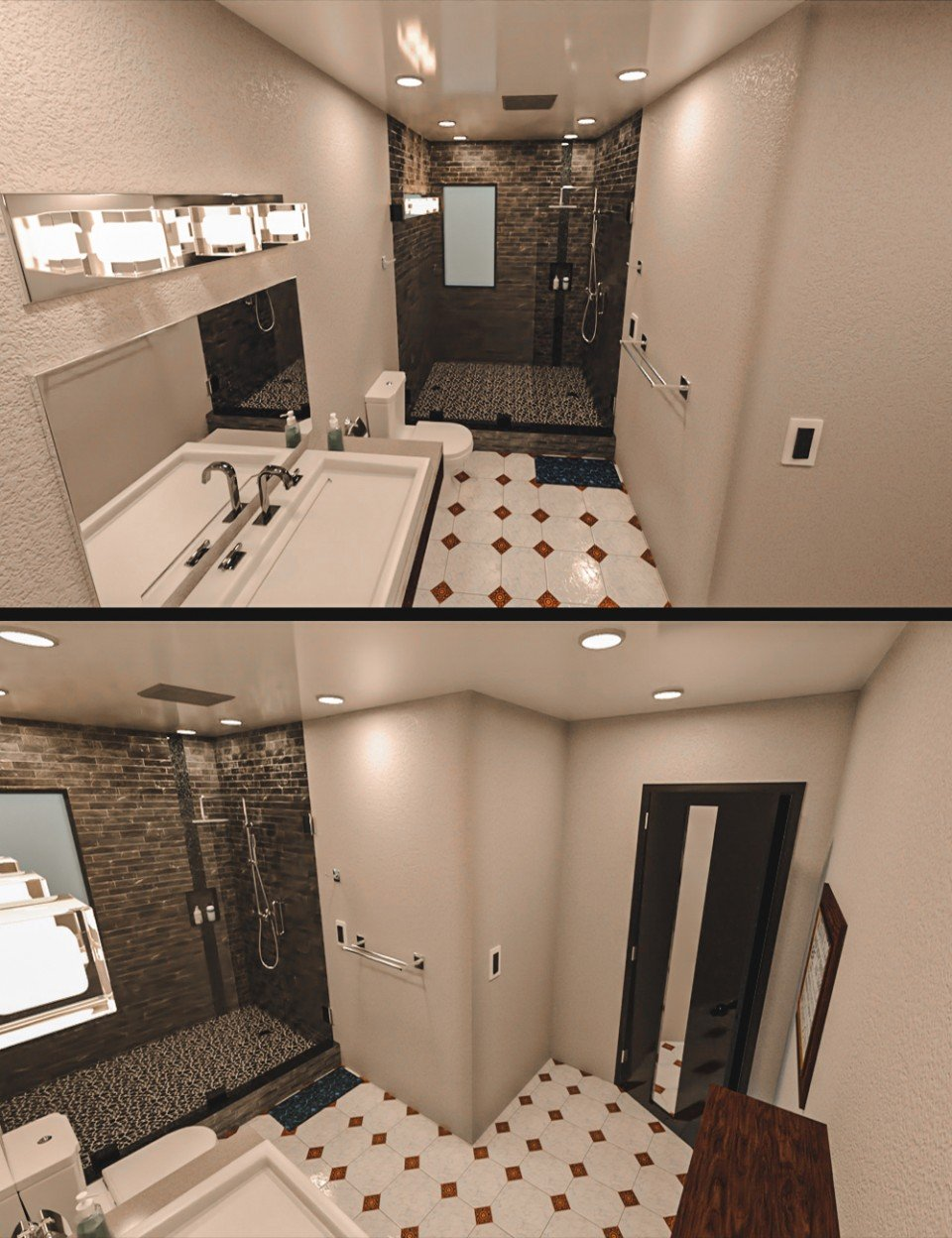 Modern Tidy Bathroom_DAZ3D下载站