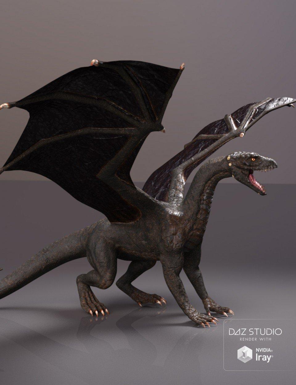 PBReal Iray Black Dragon for Daz Dragon 3_DAZ3D下载站