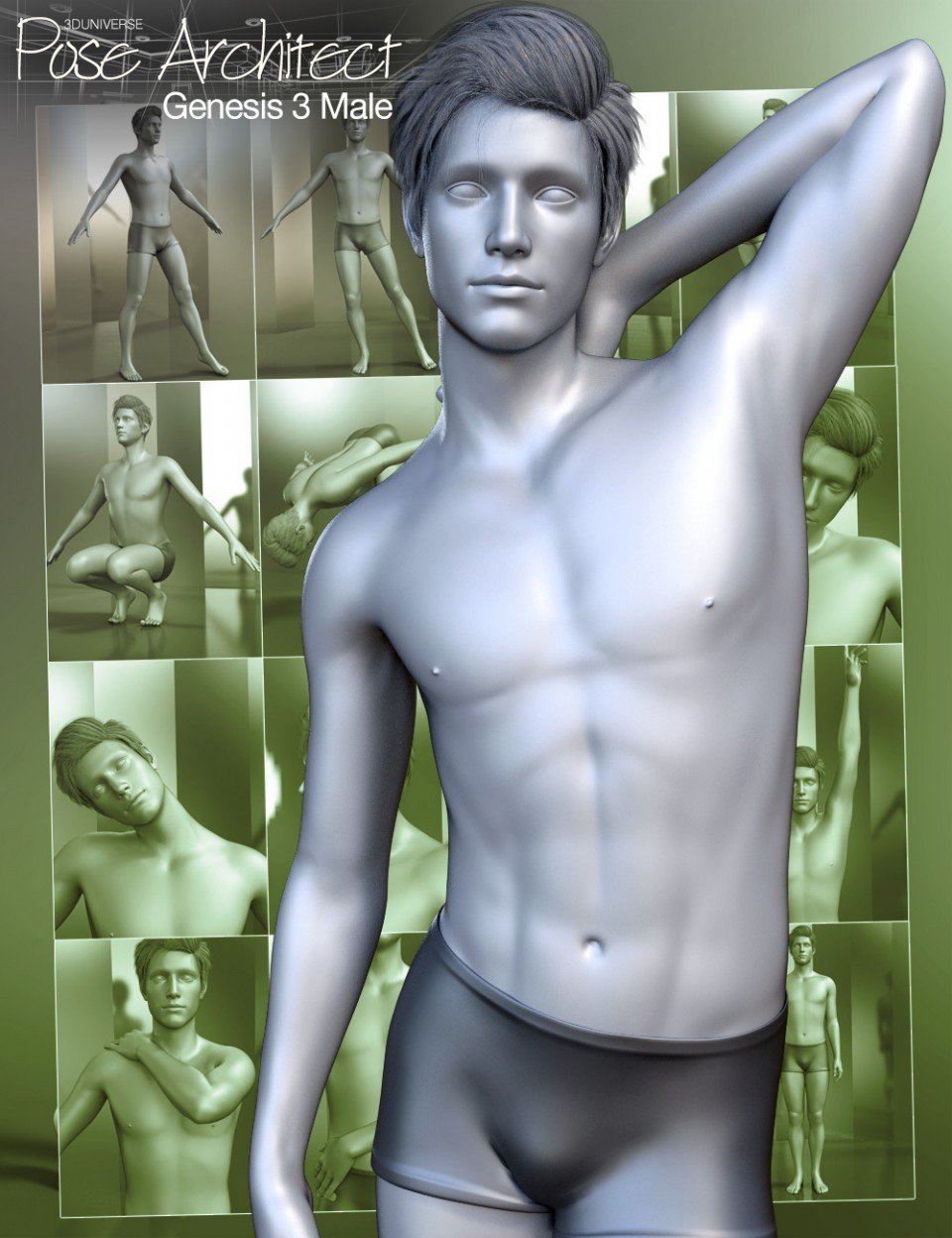 Pose Architect for Genesis 3 Male(s)_DAZ3D下载站