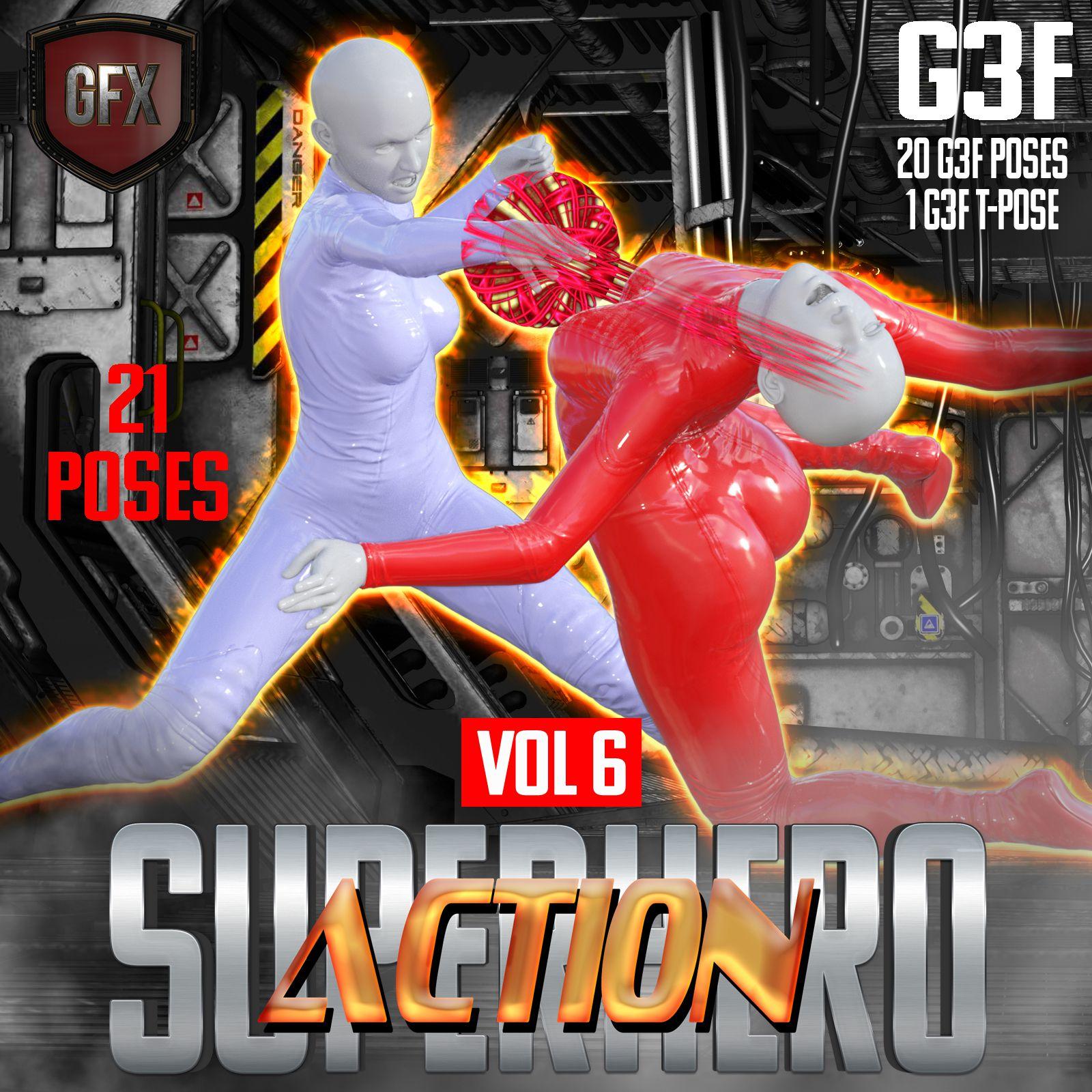 SuperHero Action for G3F Volume 6_DAZ3D下载站