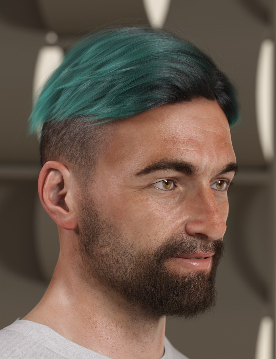 Texture Expansion for Short Fade Hair_DAZ3D下载站