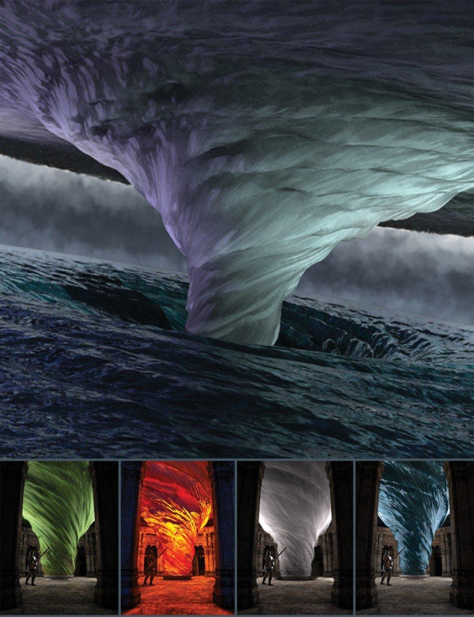 Tornado of the Four Elements_DAZ3D下载站