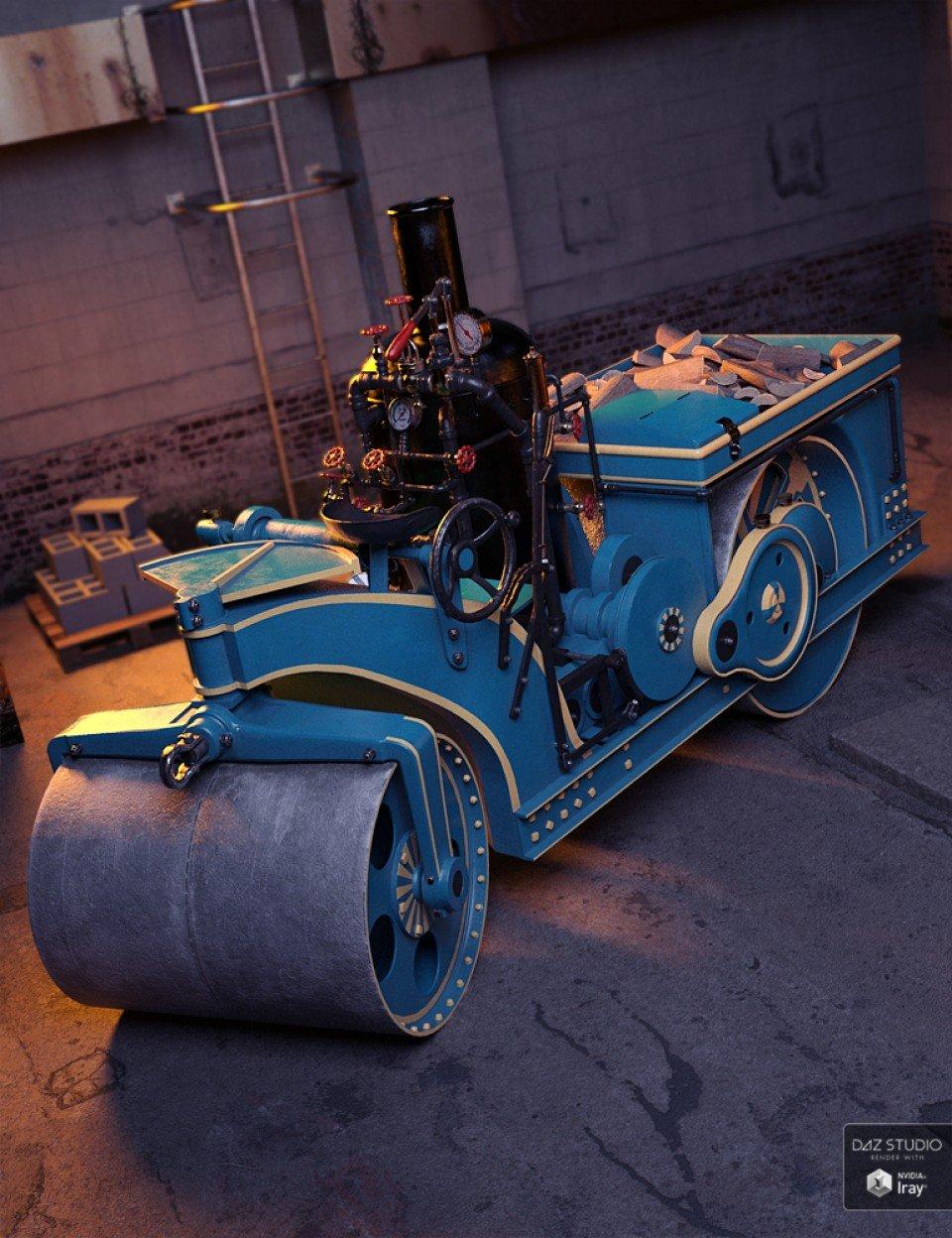Vintage Steam Roller_DAZ3D下载站