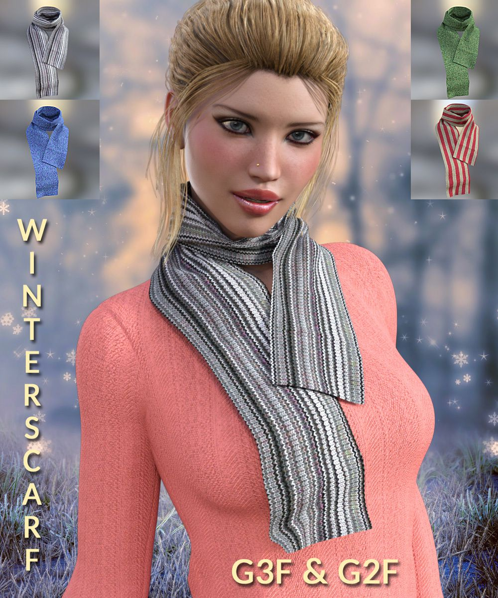 WINTERSCARF FOR G3F & G2F_DAZ3D下载站