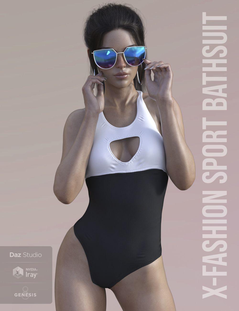 X-Fashion Sport Bathsuit for Genesis 8 Female(s)_DAZ3D下载站