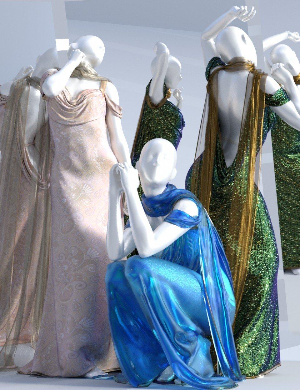 dForce Aquarius Gown Textures_DAZ3D下载站
