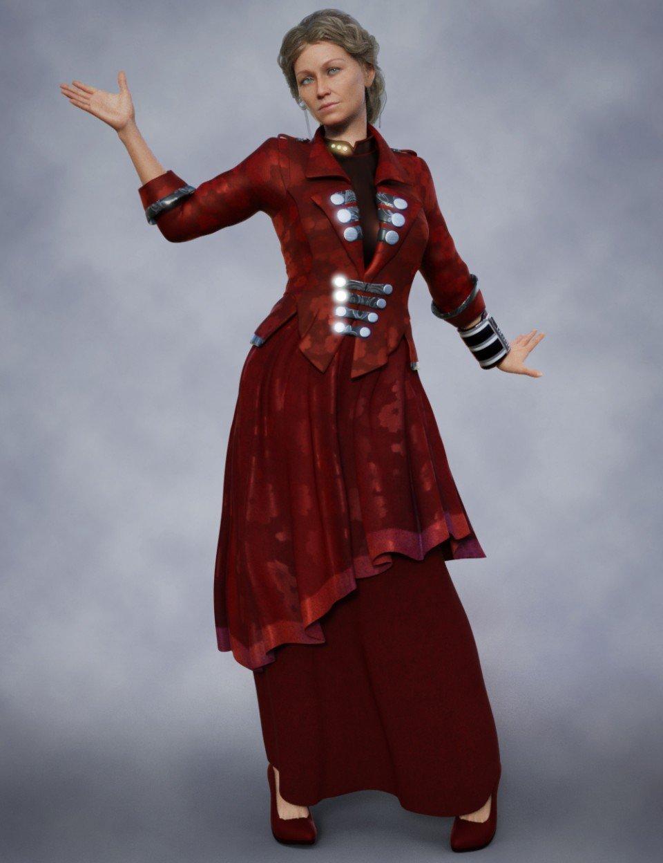 dForce Futuristic Dress Textures_DAZ3D下载站