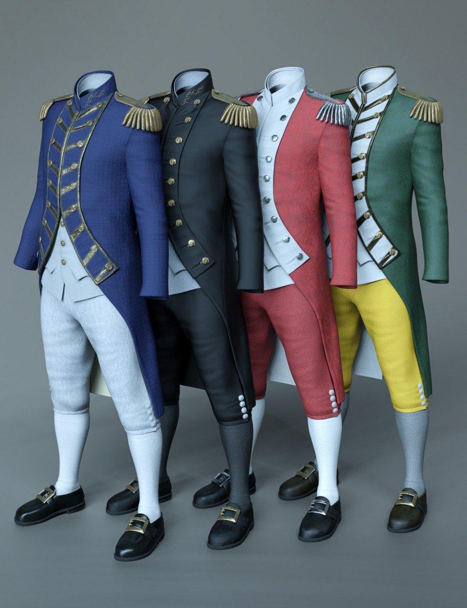 dForce Naval Uniform Textures_DAZ3D下载站