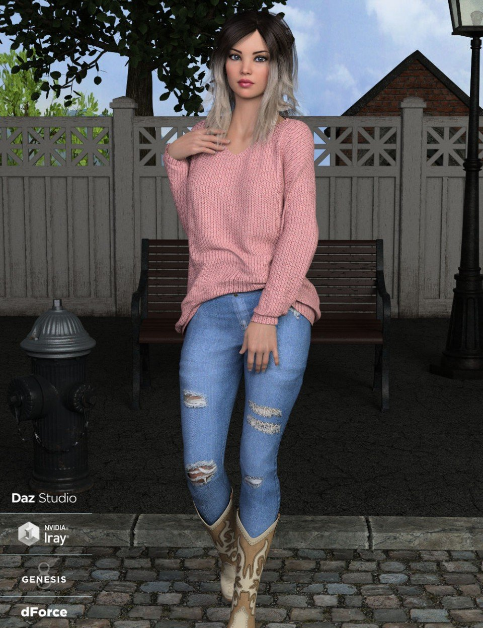 dForce Nora Outfit for Genesis 8 Female(s)_DAZ3D下载站