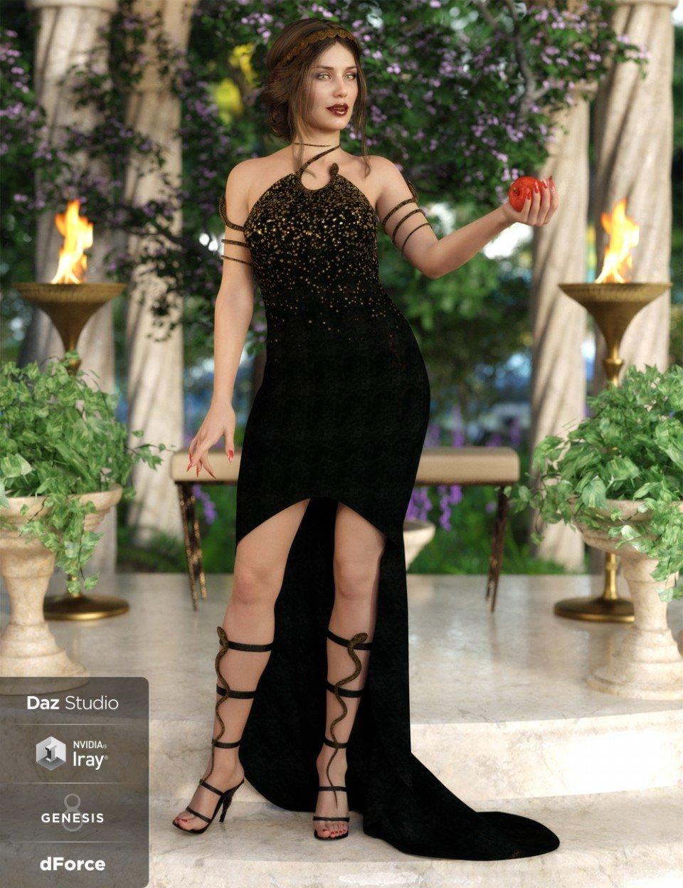 dForce Serpent Whisperer Outfit for Genesis 8 Female(s)_DAZ3D下载站