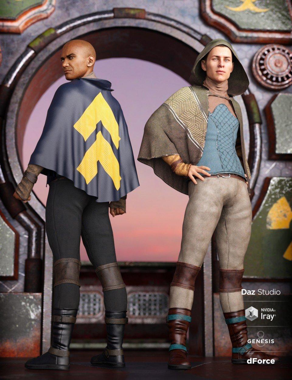 dForce Sky Rebel Outfit Textures_DAZ3D下载站