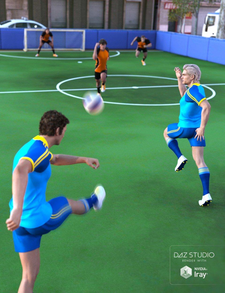 5 A-Side Football Pitch_DAZ3D下载站