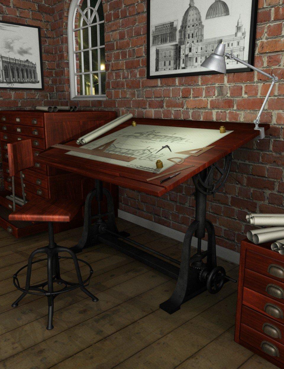 Antique Architect Equipment_DAZ3D下载站