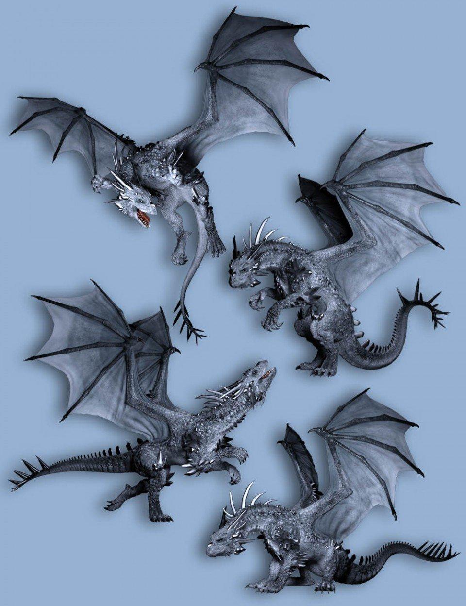 Capsces Poses for Crystal Dragon_DAZ3D下载站