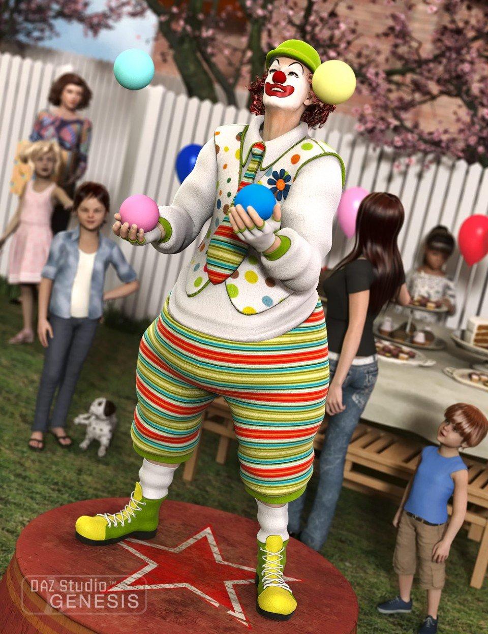 Clown + Textures_DAZ3D下载站