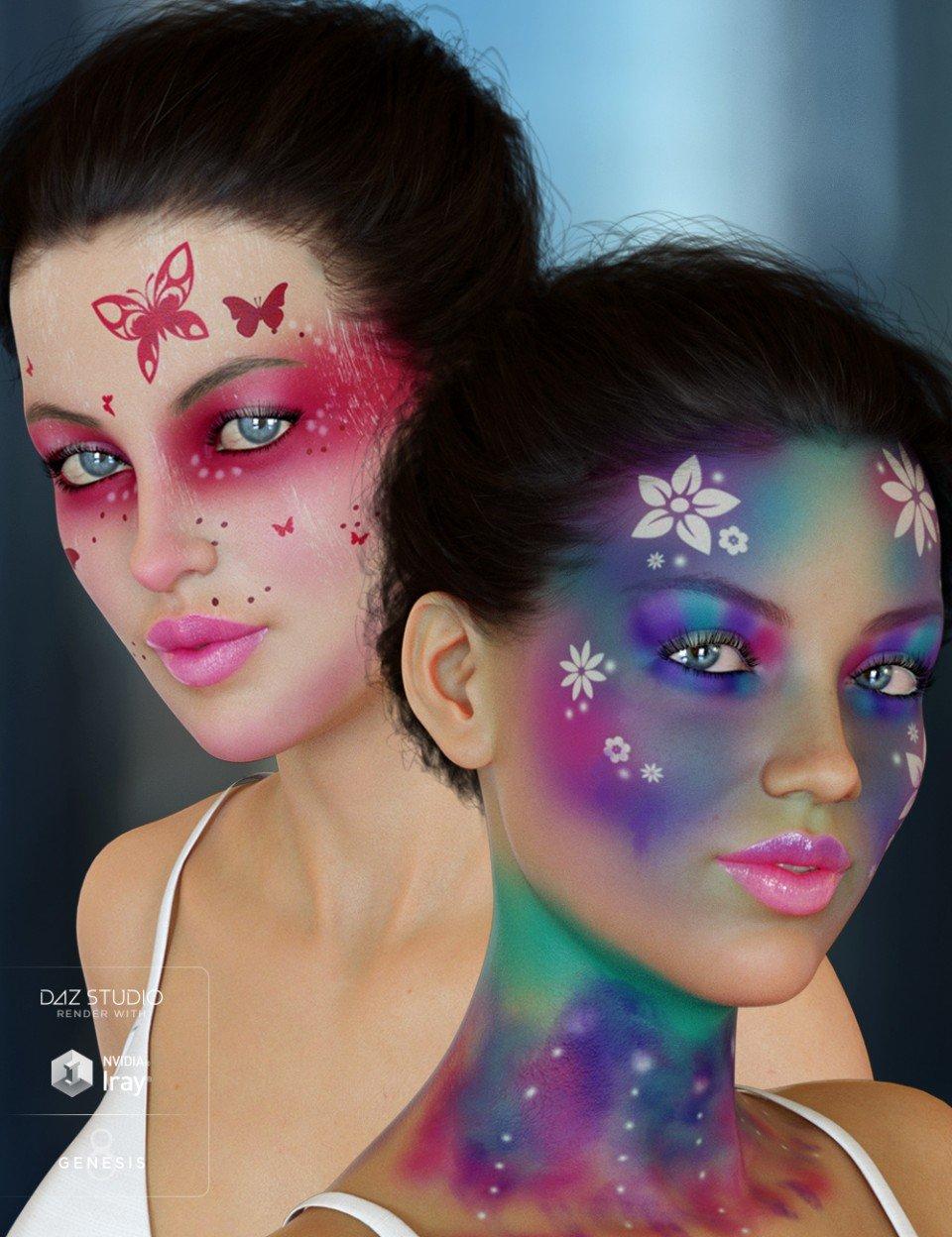 Enchanted Fantasy Makeup for Genesis 8 Female(s)_DAZ3D下载站