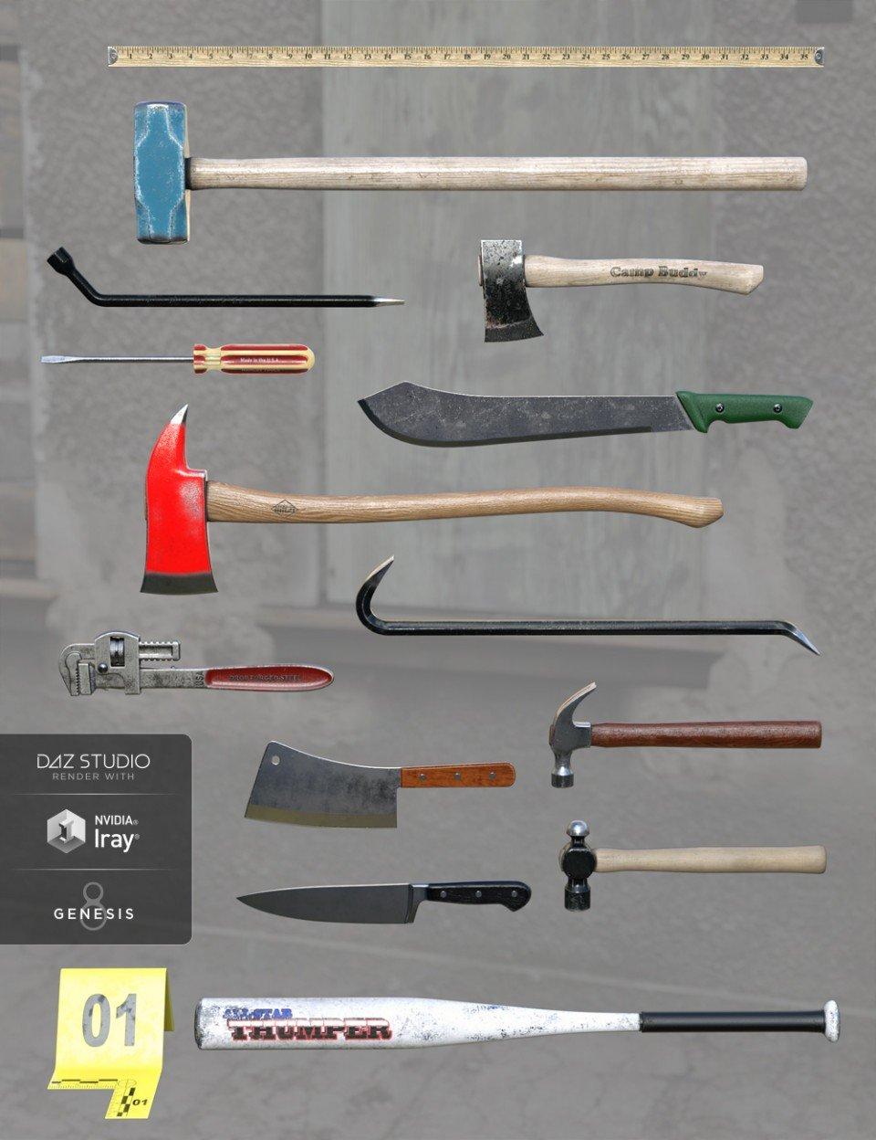 Everyday Weapons_DAZ3D下载站