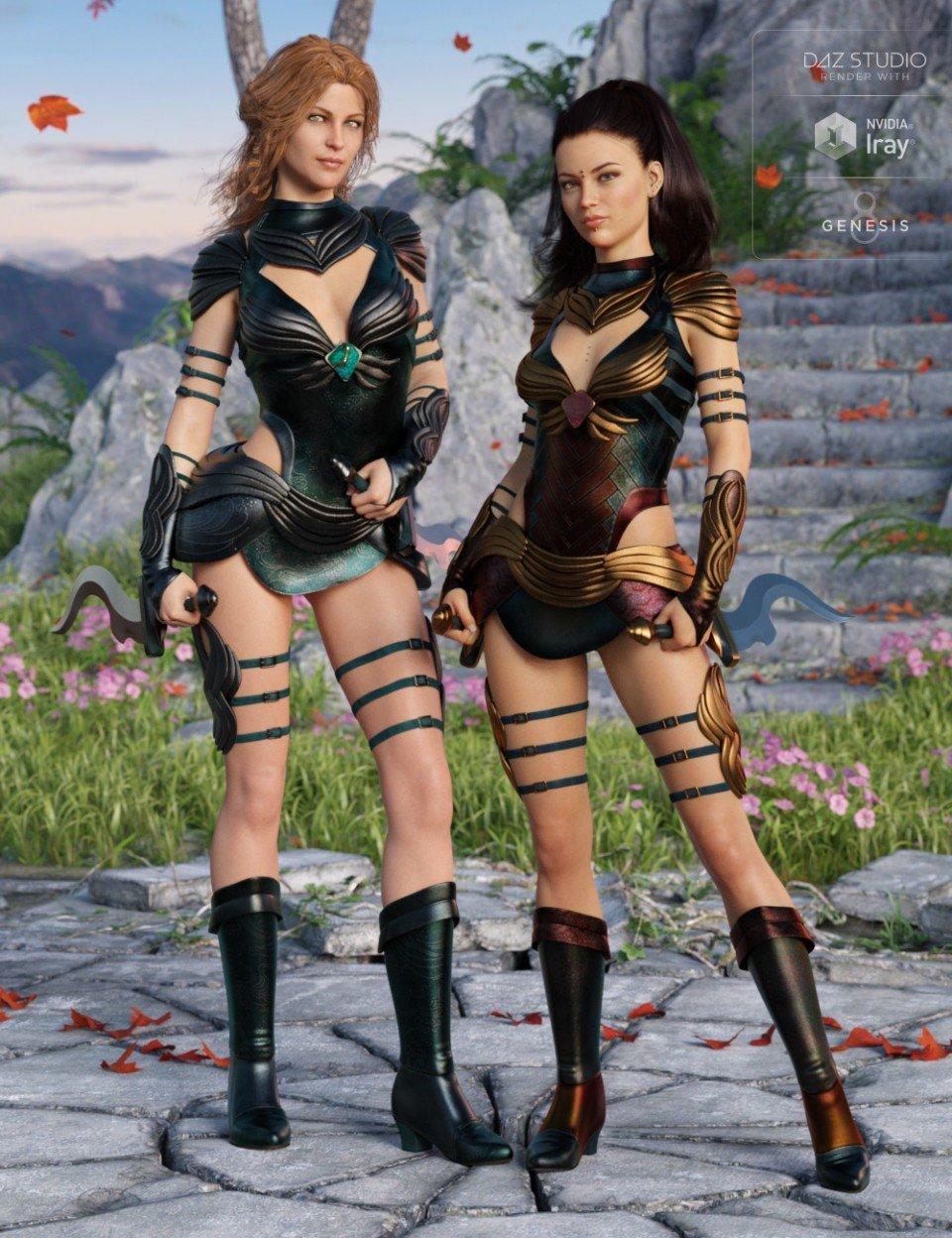 Gemini Warrior Outfit Textures_DAZ3D下载站
