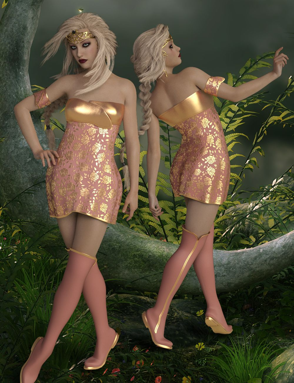 InStyle – Syndra Outfit G8_DAZ3D下载站