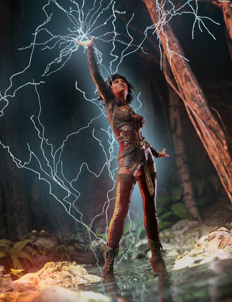 Lightning Bolts Vol. 1_DAZ3D下载站