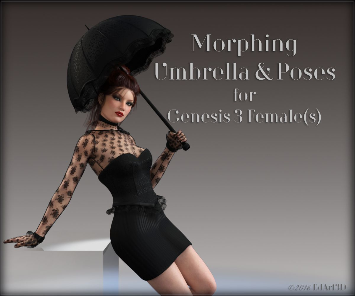 Morphing Umbrella and Poses for G3F_DAZ3D下载站
