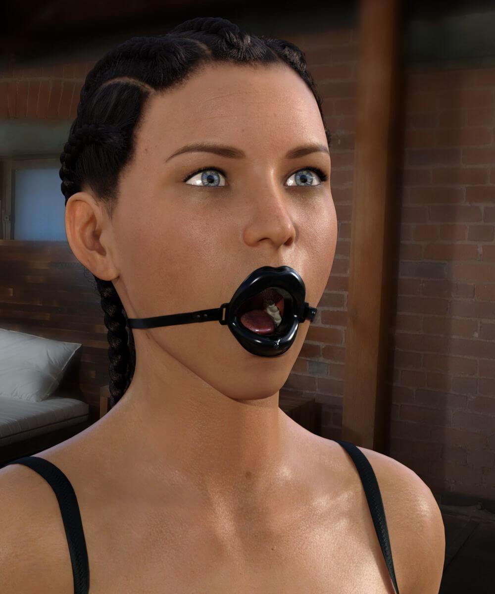 Open Wide Gag For Genesis 8 Female_DAZ3D下载站