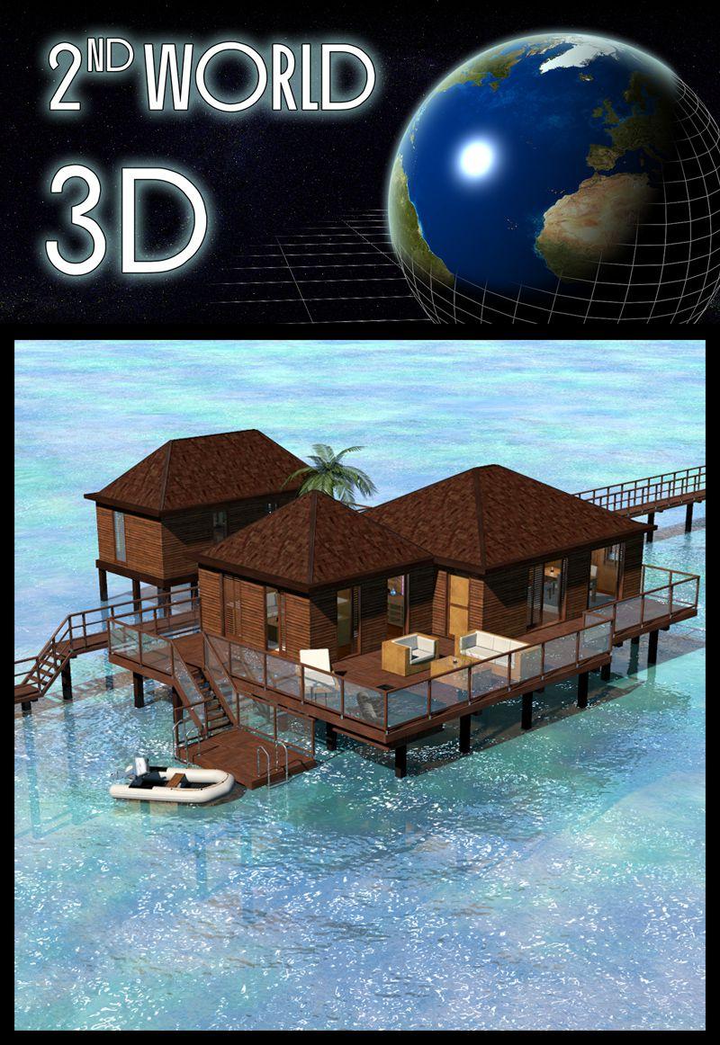 Tropical Villa, Bora Bora_DAZ3D下载站