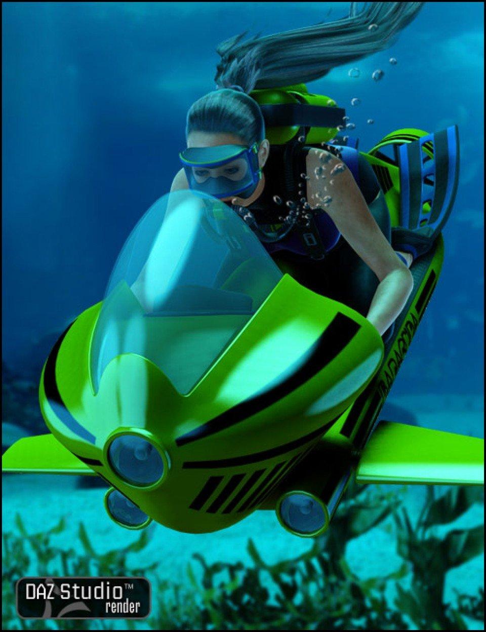 Underwater Scooter_DAZ3D下载站
