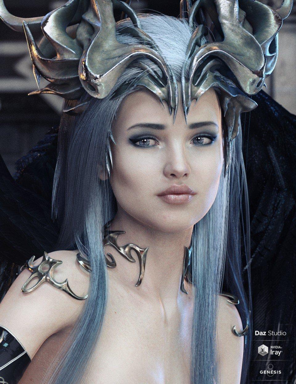 dForce EXzela Long Hair for Genesis 8 Female(s)_DAZ3D下载站