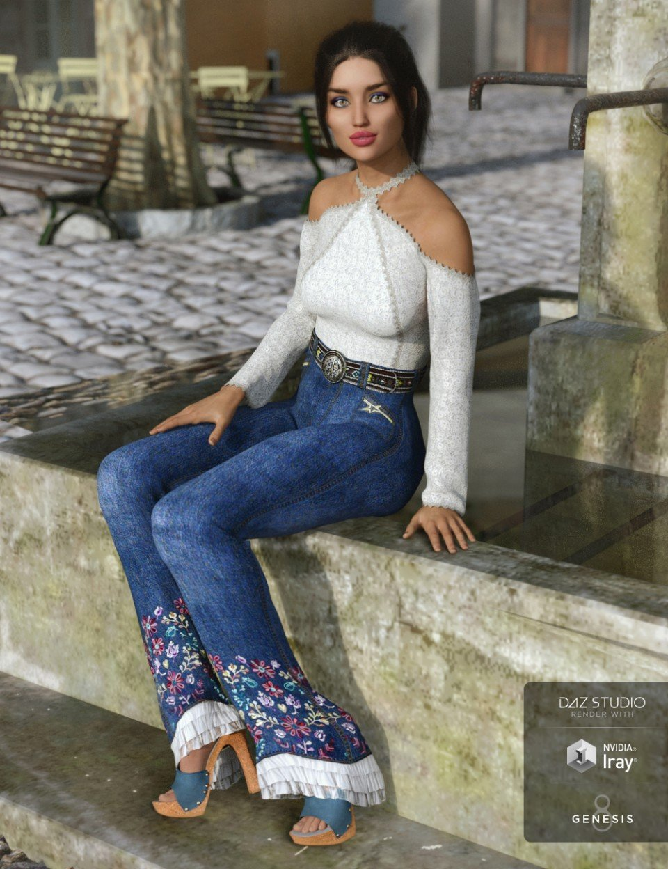 dForce Groovy Outfit for Genesis 8 Female(s)_DAZ3D下载站