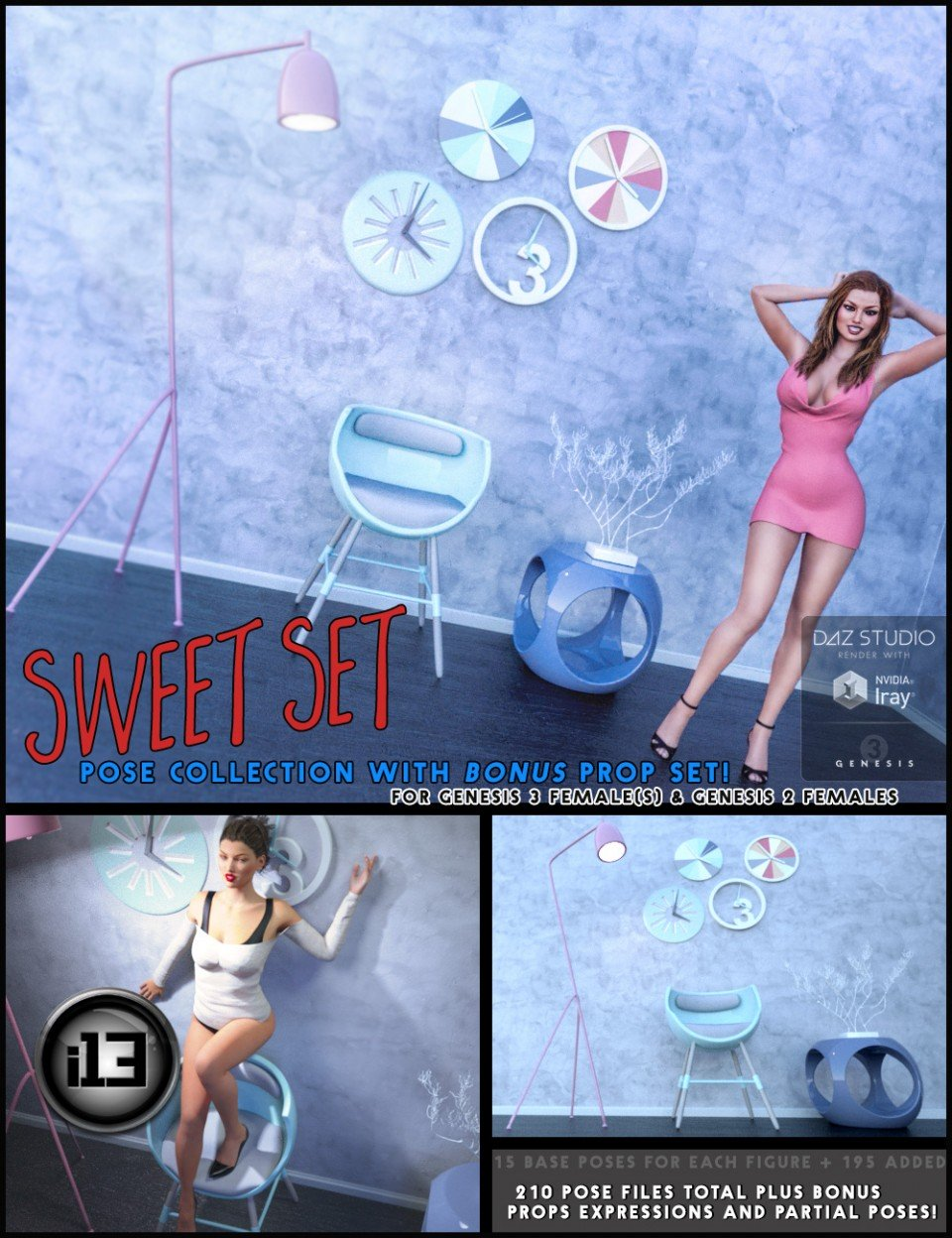 i13 SWEET Set!_DAZ3D下载站