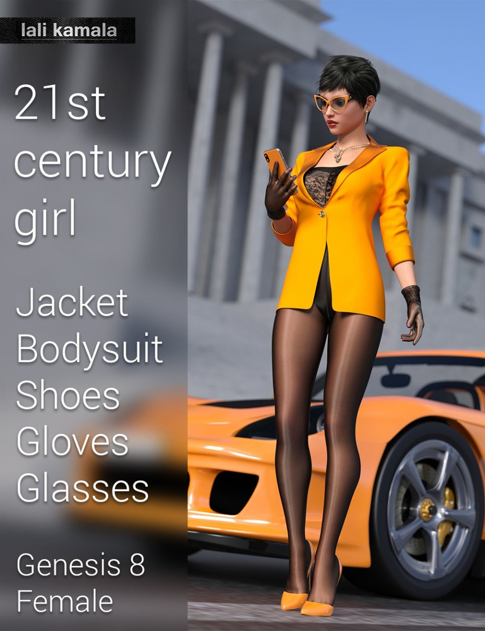 21st Century Girl Outfit for Genesis 8 Female(s)_DAZ3D下载站