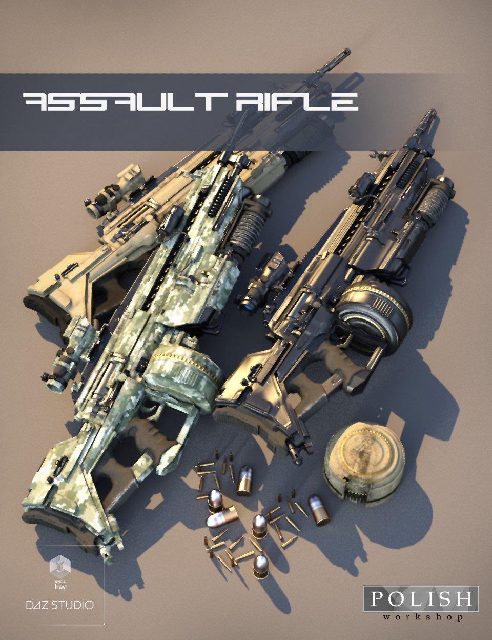 Assault Rifle_DAZ3D下载站