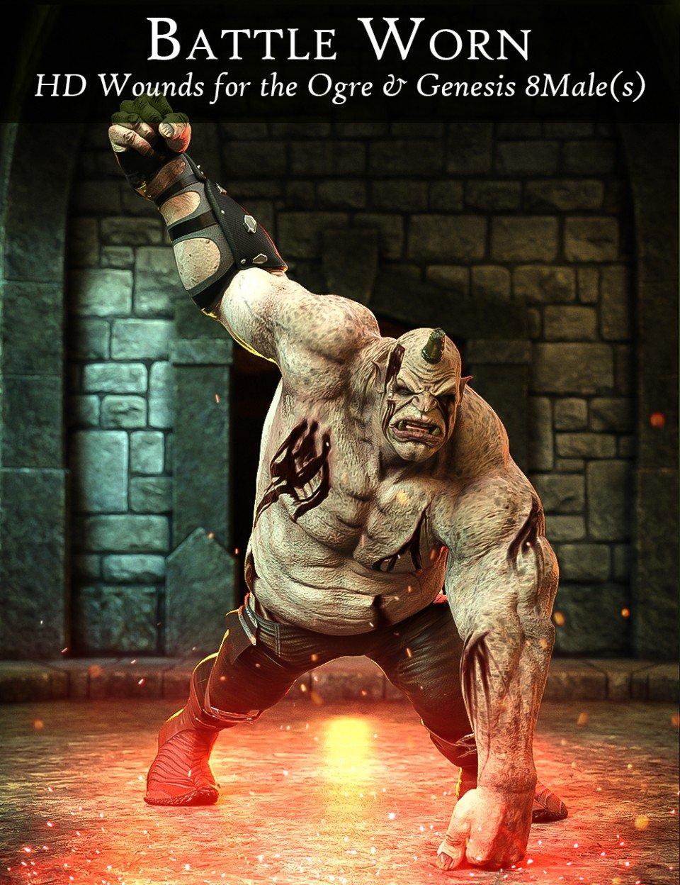 Battle Worn for Ogre HD and Genesis 8 Male(s)_DAZ3D下载站