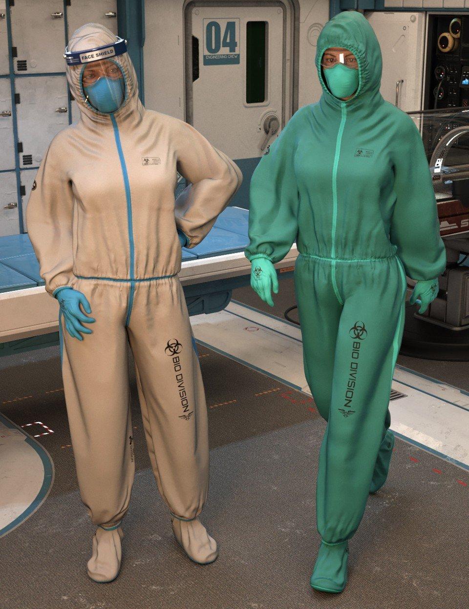 Bio Suit for Genesis 8 Females_DAZ3D下载站
