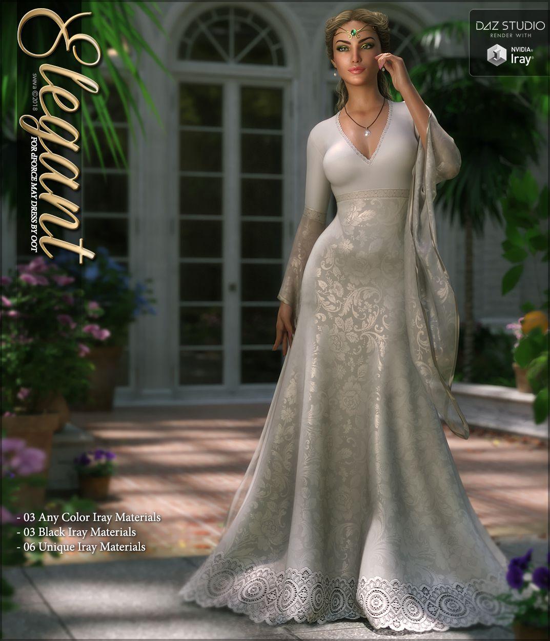Elegant for dForce May Gown_DAZ3D下载站