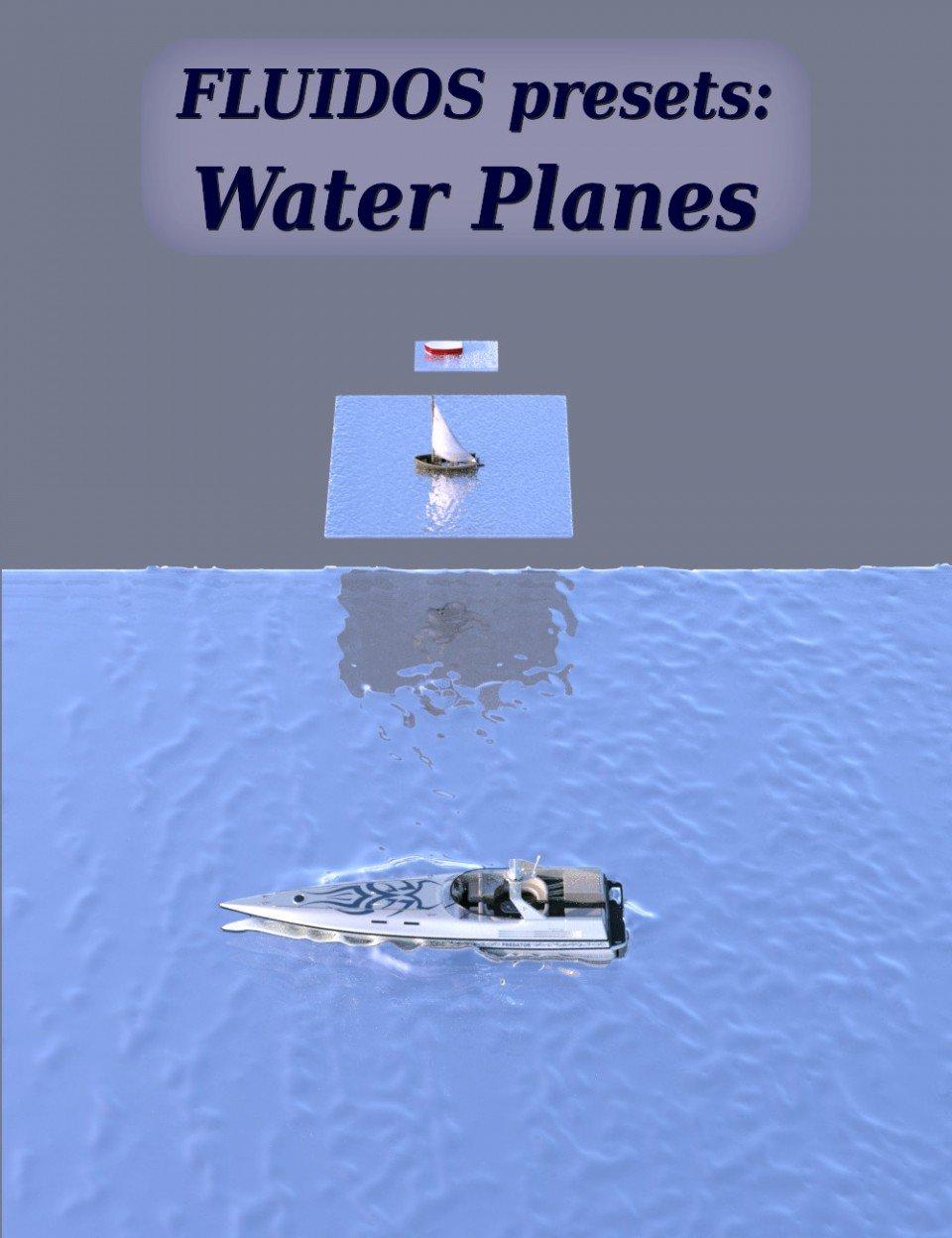 FLUIDOS Presets: Water Planes_DAZ3D下载站