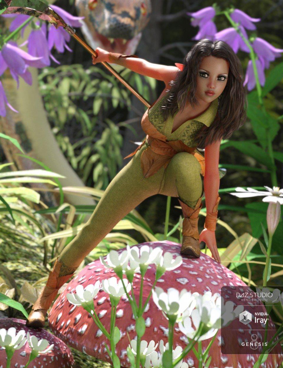 Fantasy Adventure Outfit for Genesis 8 Female(s)_DAZ3D下载站