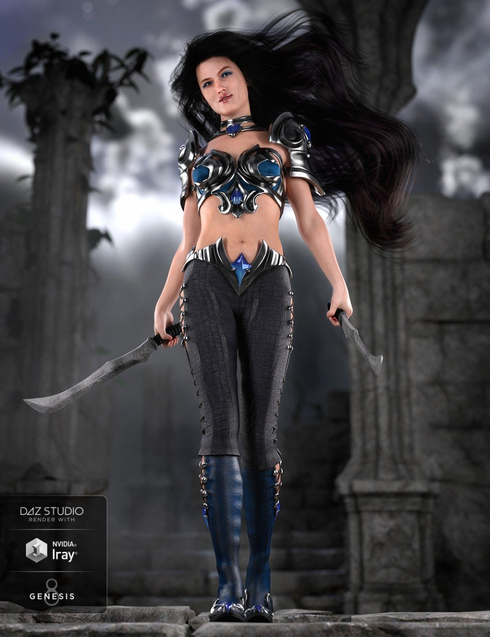 Farshadow Elf Outfit for Genesis 8 Female(s)_DAZ3D下载站