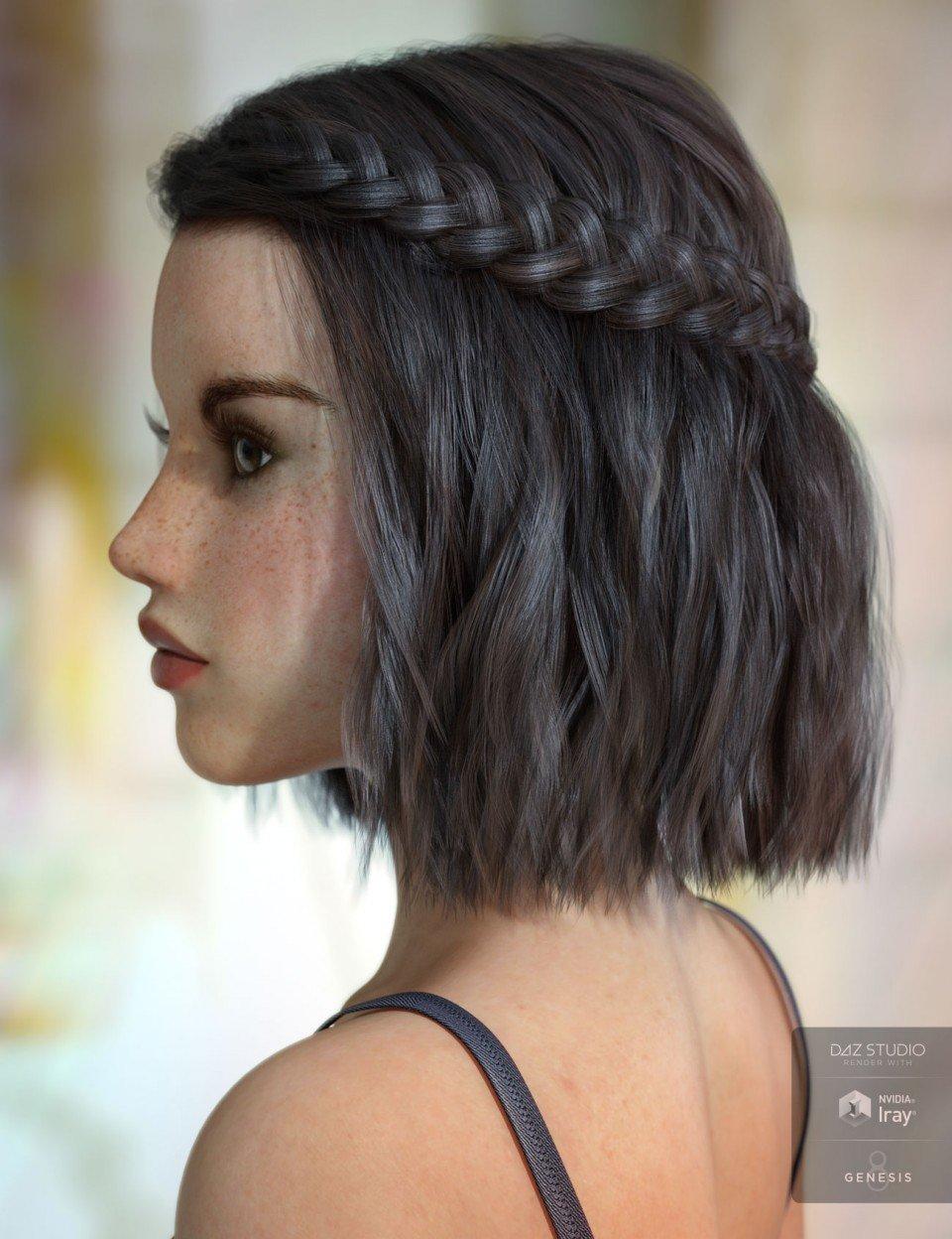 Jocelyn Hair for Genesis 3 & 8 Female(s)_DAZ3D下载站