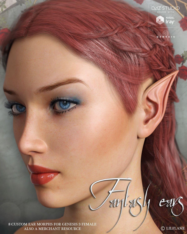 LF's Fantasy Ears for Genesis 3 Female_DAZ3D下载站