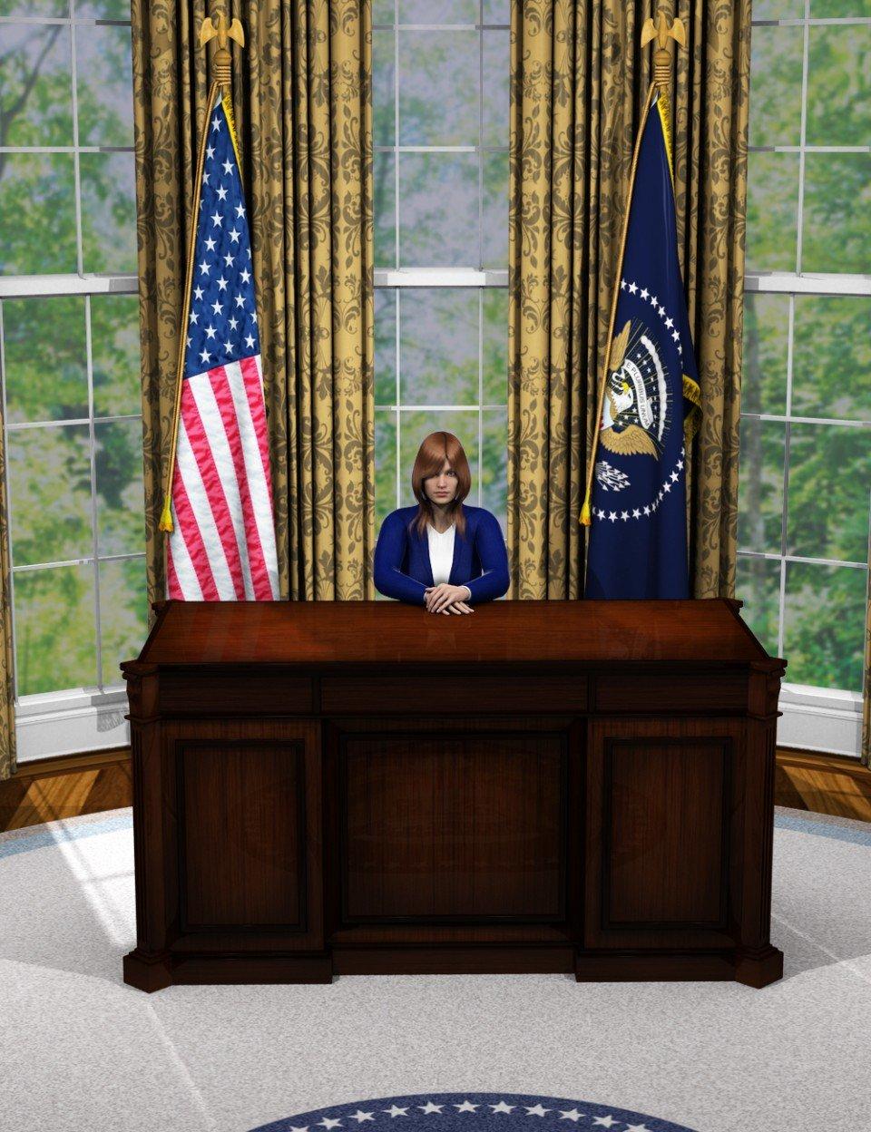 Oval Office_DAZ3D下载站