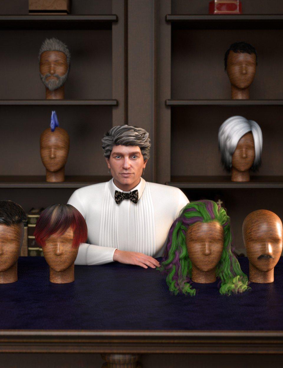 RSSY Hair Converter from Genesis 2 Male to Genesis 8 Male_DAZ3D下载站