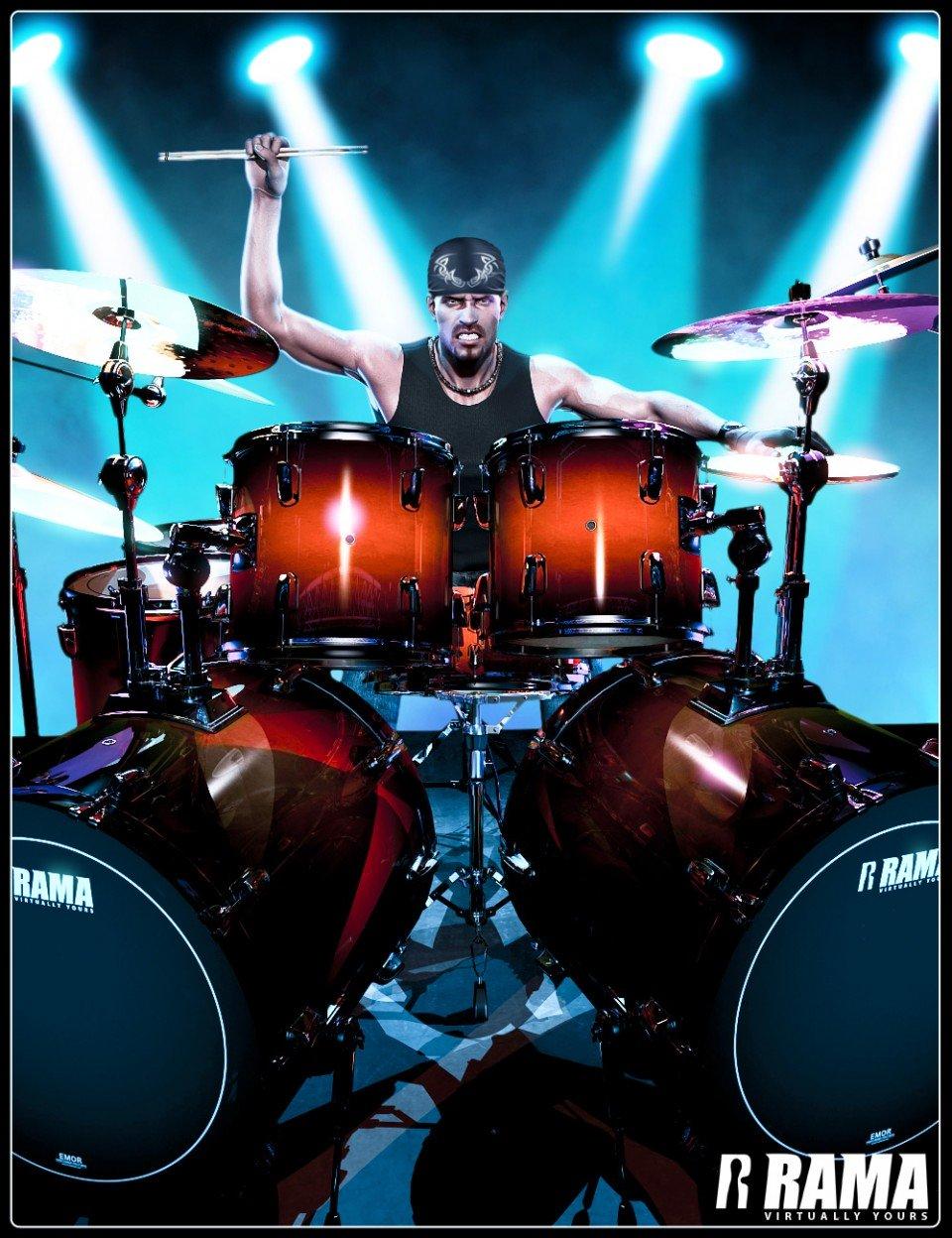 Rama Drums & Add-ons_DAZ3D下载站