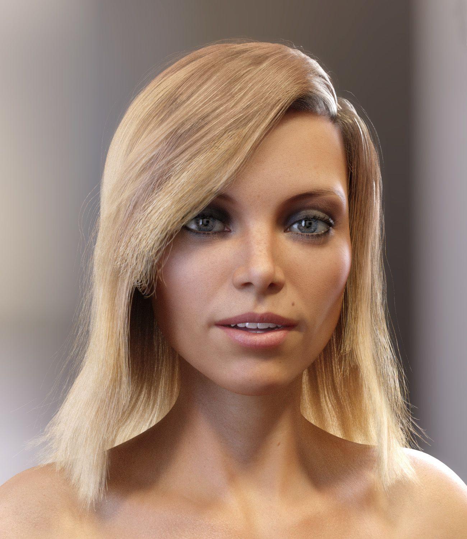 Skye Hair for Genesis 3 and 8 Females_DAZ3D下载站