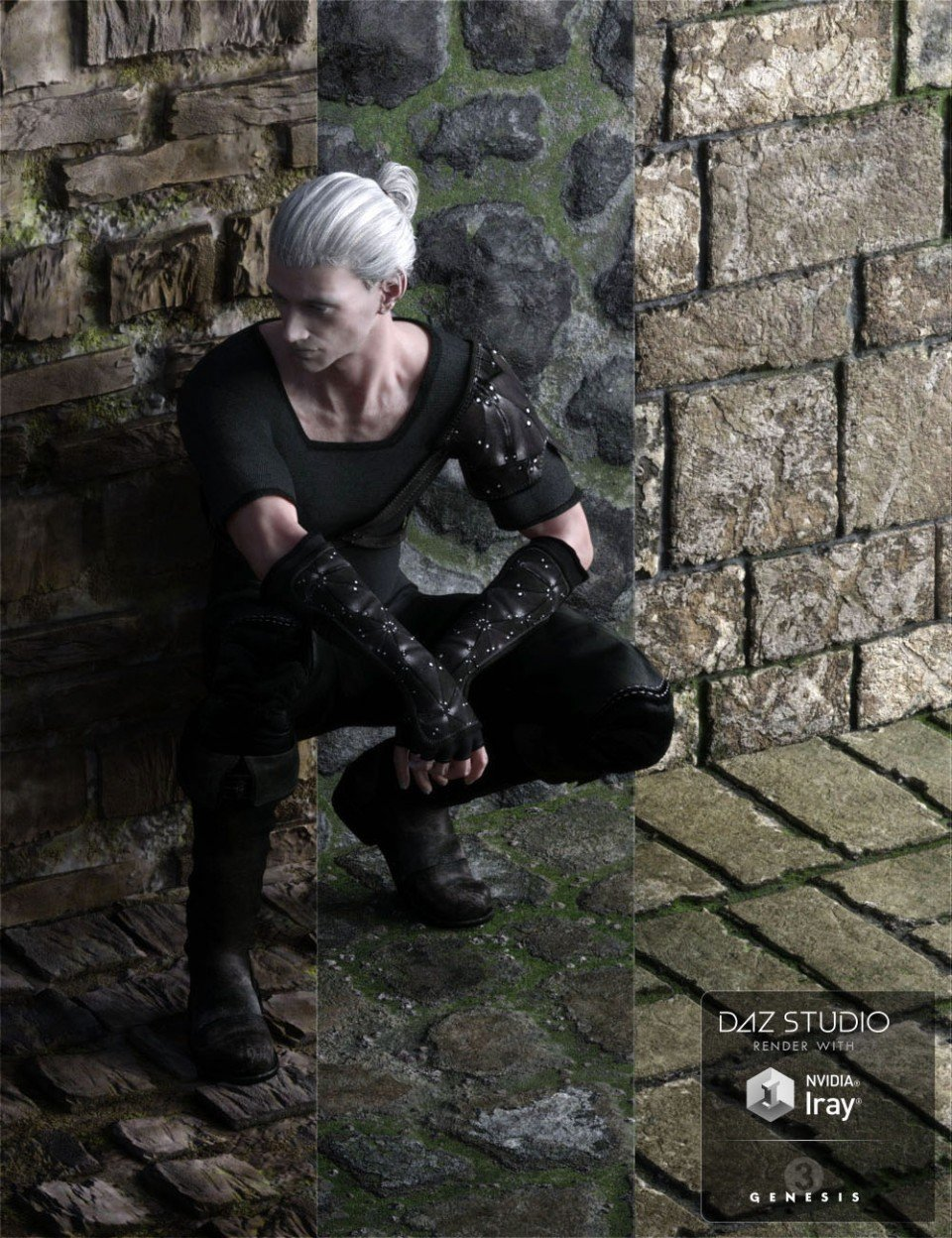 Stone Walls and Grounds_DAZ3D下载站